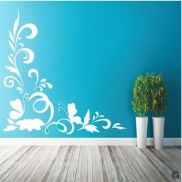 Floral hoek sierlijst muursticker