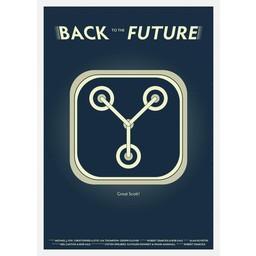 Back to the future retro movie poster