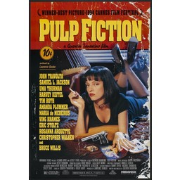 Pulp fiction movie poster dameged style