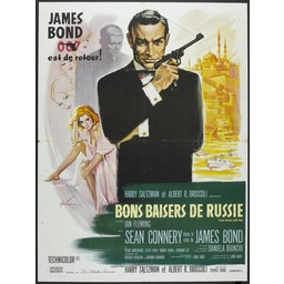 James Bond 007 est de retour. from russia with love french movie poster