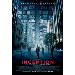 Inception met Leonardo Dicaprio movie poster