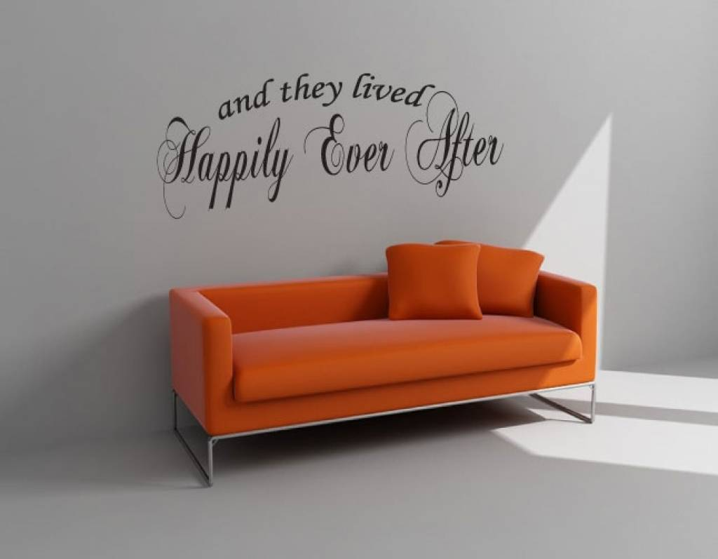 And They Lived Happily Ever After. Muursticker / Interieursticker