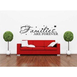 Families are forever. Muursticker / Interieursticker