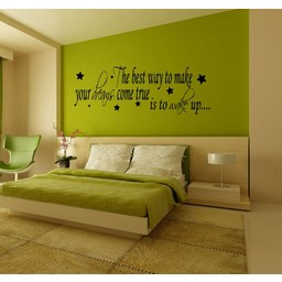 The best way to make your dreams come true. Is to wake up. Muursticker / Interieursticker