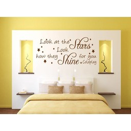 Coldplay.. Look at the stars look how they shine for you. Muursticker / Interieursticker