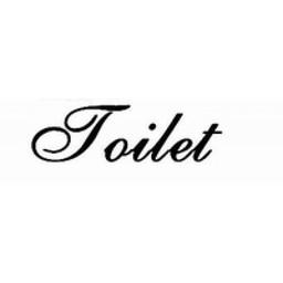 Deursticker Toilet