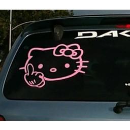 Hello kitty middel finger sticker