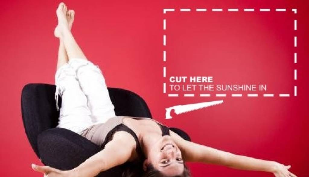 Lijst Cut here to let the sunshine in