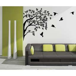Groep vogels in boom muursticker