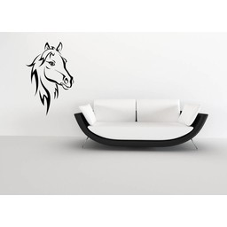 Paardehoofd muursticker