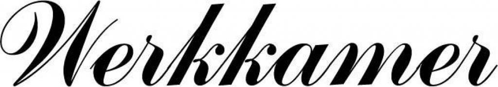 Deursticker Werkkamer. Kies je eigen lettertype