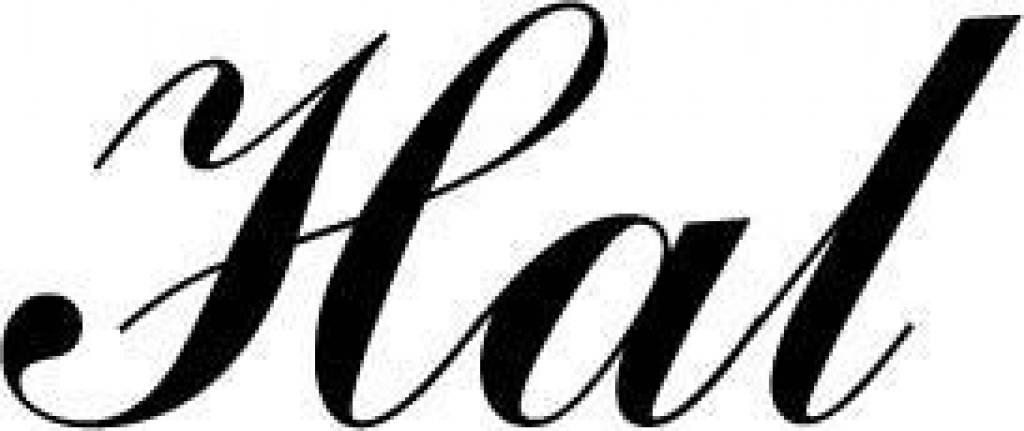 Deursticker Hal. Kies je eigen lettertype