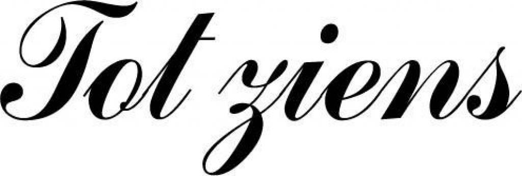 Deursticker Tot ziens. Kies je eigen lettertype