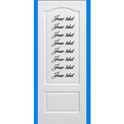 Set van 8 eigen ontwerp deursticker.