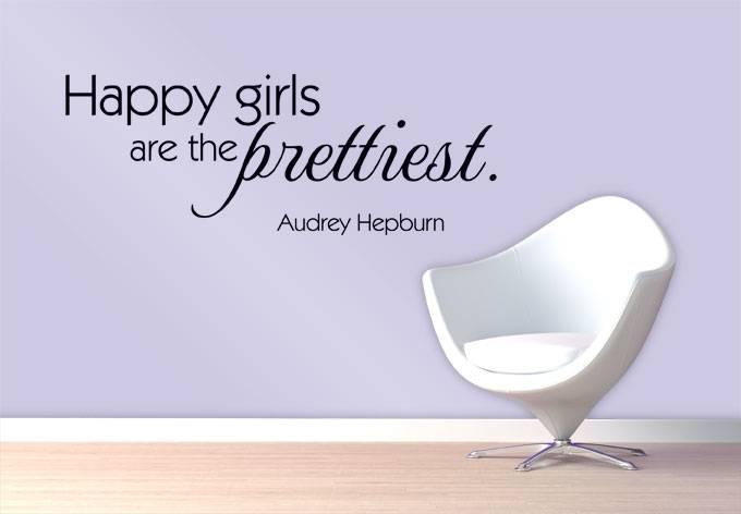 Audrey Hepburn. Happy girls are the prettiest