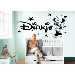 Minnie Mouse naamsticker met sterren