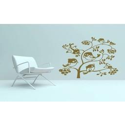 Vogel kersenboom muursticker
