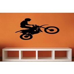 Motor Cross Dirt Stunt Bike muursticker