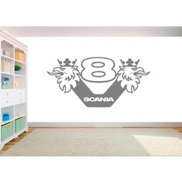 Scania V8 logo muursticker