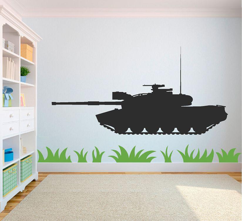 Leger tank muursticker