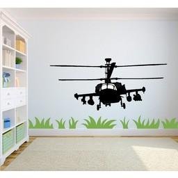 Gevechts Helicopter muursticker