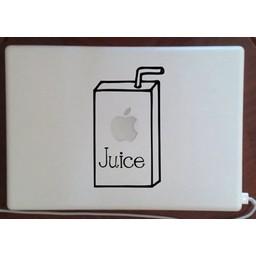 Apple juice laptopsticker