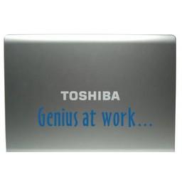 Genius at work laptop sticker
