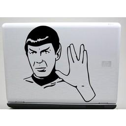 Spock laptopsticker