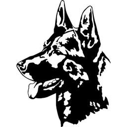 Herder hondje muursticker