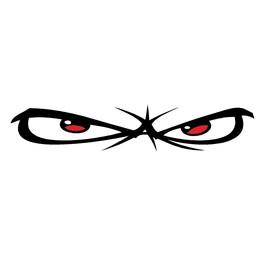 No Fear eyes autosticker
