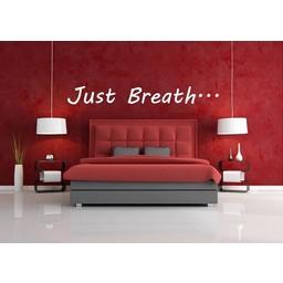 Just Breath muursticker