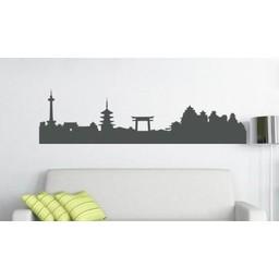 Skyline Kyoto muursticker