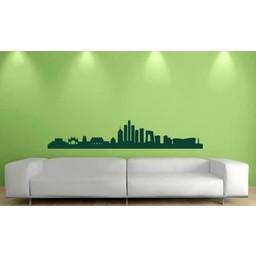 Skyline Beijing / Peking muursticker