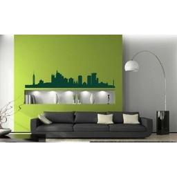 Skyline Jakarta muursticker