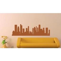 Skyline Singapur muursticker