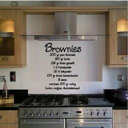 Brownies recept keuken muursticker