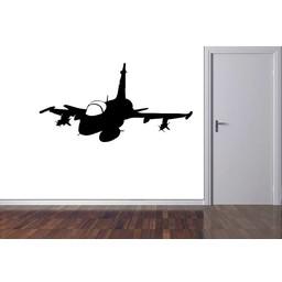Straaljager, fighterjet 2. muursticker