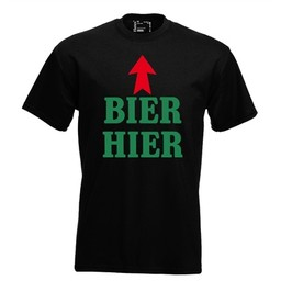 Bier hier. Keuze uit T-shirt of Polo en div. kleuren. S t/m 8 XL