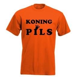 Koning pils. Keuze uit T-shirt of Polo en div. kleuren. S t/m 8 XL