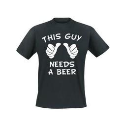 This guy needs a beer. Keuze uit T-shirt of Polo en div. kleuren. S t/m 8 XL