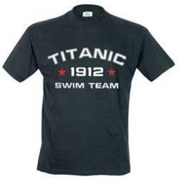Titanic 2012 swim team. Dames T-shirt in div. kleuren. XS t/m 4 XL