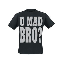 U mad bro?. Keuze uit T-shirt of Polo en div. kleuren. S t/m 8 XL