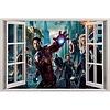 Open raam The Avengers muursticker full color