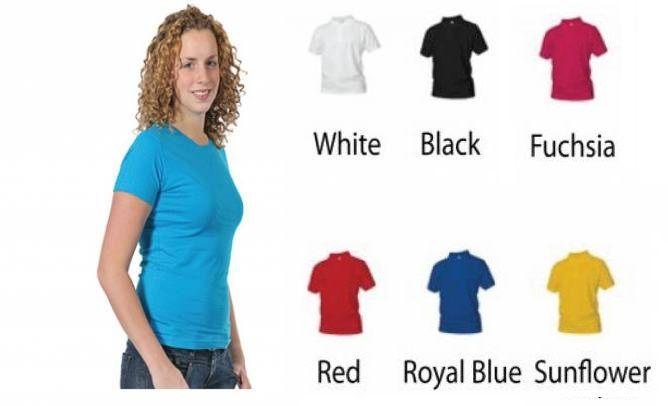 98% chimp. Dames T-shirt in div. kleuren. XS t/m 4 XL