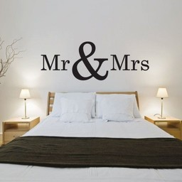 Mr & Mrs muursticker