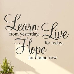 Learn from yesterday, Live for today, Hope for tomorrow. (2) Muursticker