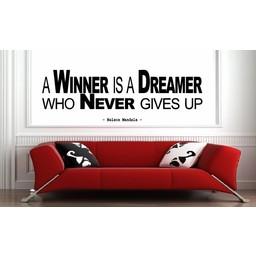 Nelson Mandela - A winner is a dreamer 2. Muursticker