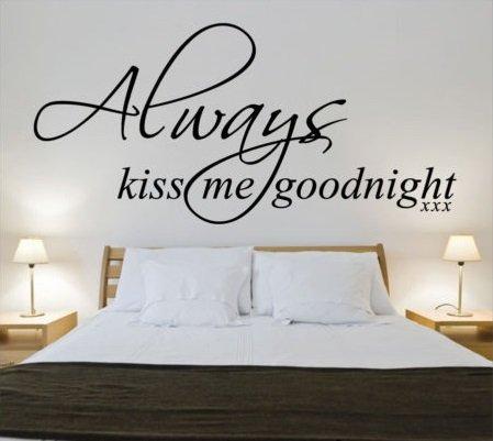 Always kiss me goodnight 3. Muursticker