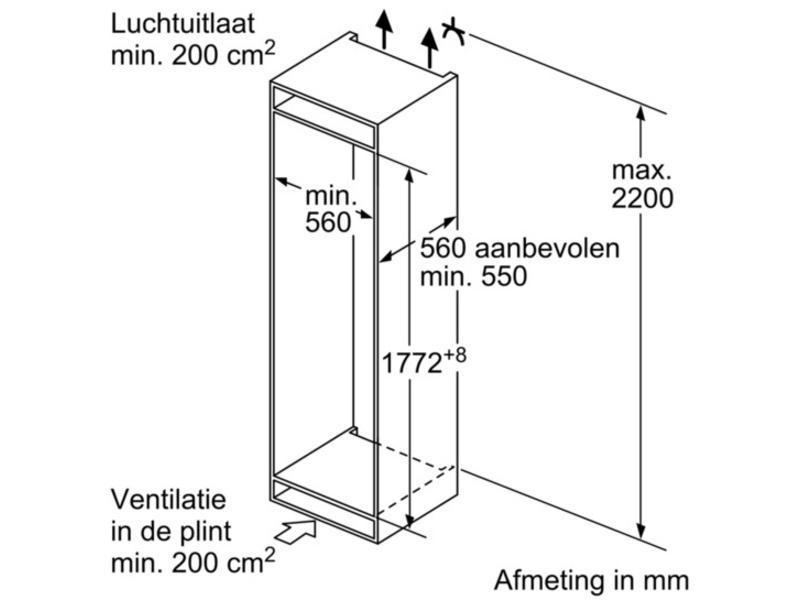 Siemens KI86VVF30 inbouw-koelvriescombinatie