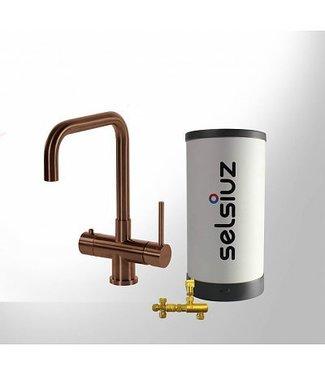 Selsiuz Copper Haaks 3 in 1 kookkraan met Combi Extra boiler